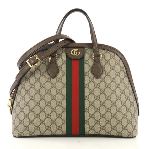 eec614327ac Gucci Ophidia Dome Top Handle Bag GG Coated Canvas Medium 4148811 – Rebag