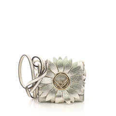 Fendi Flower Kan I F Bag Leather Micro Gold 4148813