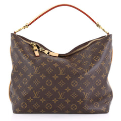 Louis Vuitton Sully Handbag Monogram Canvas PM Brown 414883
