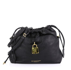 Burberry Little Crush Lock Crossbody Leather Black 414941