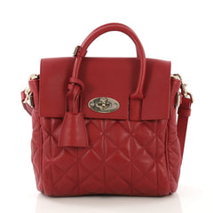 Mulberry Cara Backpack and Shoulder Bag Quilted Leather Red 4149910
