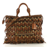 Burberry Eyelets Big Crush Tote Fringe Calf Hair Large 4149913