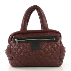 Chanel Coco Cocoon Bowling Bag Quilted Lambskin Medium Red 4149917