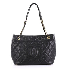 Chanel Timeless CC Soft Tote Quilted Caviar Large Black 4149918