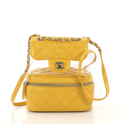 8bee9d0a6e1b Chanel Zip Around Flap Backpack Quilted Crumpled Calfskin 4150715 – Rebag