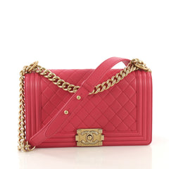 Chanel Boy Flap Bag Quilted Lambskin Old Medium Pink 4150717
