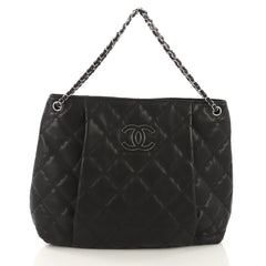 Chanel Double Stitch Hamptons Shoulder Bag Quilted Calfskin 415136