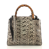 Gucci Nymphaea Tote Python Small Gray 4151716