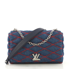 Louis Vuitton GO-14 Handbag Malletage Denim MM - Rebag