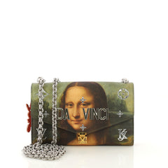 Louis Vuitton Chain Wallet Limited Edition Jeff Koons Da Vinci Print Canvas