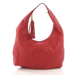 Gucci Soho Hobo Leather Large Red 4152501