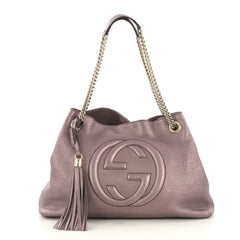 Gucci Soho Chain Strap Shoulder Bag Leather Medium Purple 415821