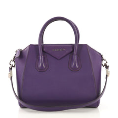 Givenchy Antigona Bag Leather Small Purple 415933