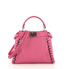Fendi Peekaboo Bag Whipstitch Leather Mini