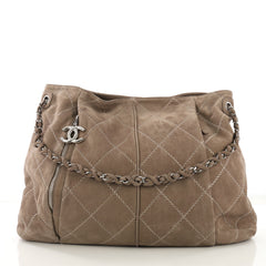 4de58fa8a674 Chanel Ultimate Stitch Hobo Quilted Nubuck Large Brown 4160410
