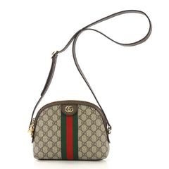 Gucci Ophidia Shoulder Bag GG Coated Canvas Small Brown 4160426