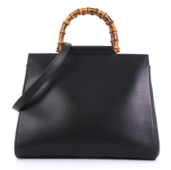 Gucci Nymphaea Tote Leather Medium Black 4160437