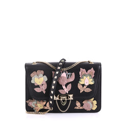 Valentino Demilune Shoulder Bag Leather with Python and 4160438