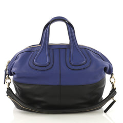 Givenchy Nightingale Satchel Leather Medium Blue 4160439