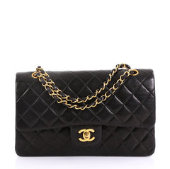 Chanel Vintage Classic Double Flap Bag Quilted Lambskin 4160616