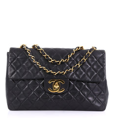 Chanel Vintage Classic Single Flap Bag Quilted Lambskin 4160620