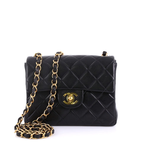 aa874eac32a73b Chanel Vintage Square Classic Single Flap Bag Quilted 4160632 – Rebag