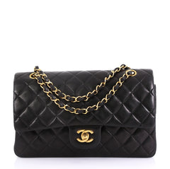 Chanel Vintage Classic Double Flap Bag Quilted Lambskin 416068