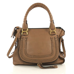 Marcie Braided Satchel Leather Medium