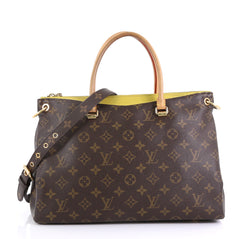 Louis Vuitton Pallas Tote Monogram Canvas Brown 4165713