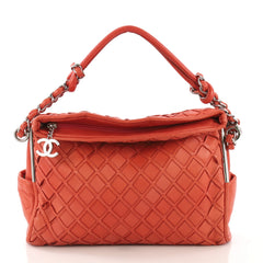 Chanel Ultimate Soft Hobo Sombrero Woven Leather Red 4166415