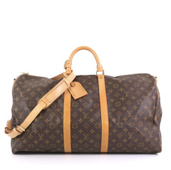 Keepall Bandouliere Bag Monogram Canvas 55