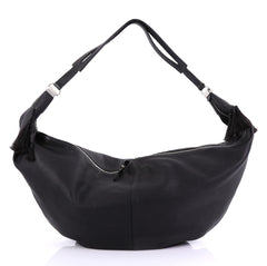 The Row Sling Hobo Leather 15 Black 416681