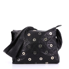 b9c6c1c0f28aa6 Chanel Star Attitude Hobo Grommet Embellished Quilted Black 4168101