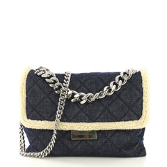 Stella McCartney Soft Beckett Shoulder Bag Quilted Denim 41692119