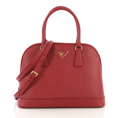 Prada Open Promenade Bag Saffiano Leather Medium Red 41692126
