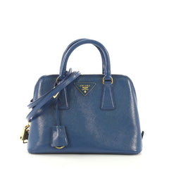 aa3c80f033fa Prada Promenade Bag Vernice Saffiano Leather Small Blue 41692127