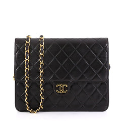 Chanel Vintage Clutch with Chain Quilted Leather Small 41692132