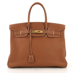 Hermes Birkin Handbag Brown Togo with Gold Hardware 35 41692135