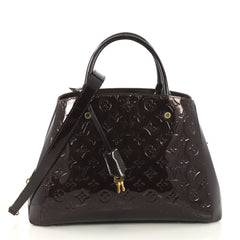 Louis Vuitton Montaigne Handbag Monogram Vernis MM