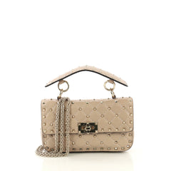 Valentino Rockstud Spike Flap Bag Quilted Leather Small 41692158