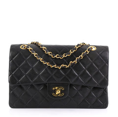 Chanel Vintage Classic Double Flap Bag Quilted Lambskin 41692163