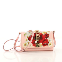 Dolce & Gabbana Chain Lock Crossbody Printed Leather Small - Rebag