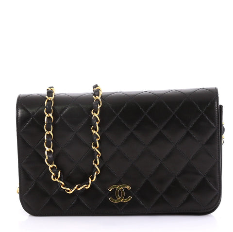 b14a24de9a15 Chanel Vintage 3 Way Full Flap Bag Quilted Lambskin Small 41692177 – Rebag