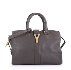 Saint Laurent Chyc Cabas Tote Leather Small Gray 41692182