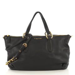 Miu Miu Madras Zip Chain Tote Leather Large - Rebag