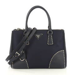 Prada Double Zip Convertible Tote Stitched Tessuto and 4169252