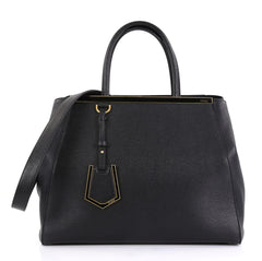 Fendi 2Jours Bag Leather Medium - Designer Handbag - Rebag