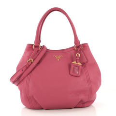 Prada Convertible Satchel Vitello Daino Medium - Rebag