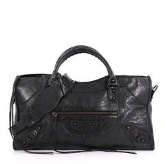 Balenciaga Part Time Classic Studs Bag Leather - Rebag