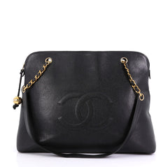d4ed57f136f471 Chanel Vintage Timeless Zip Tote Caviar Large Black 4169299